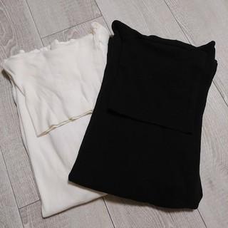サンスペル(SUNSPEL)のSUNSPEL 長袖タートル ブラック&ホワイト 二着セット(Tシャツ/カットソー(七分/長袖))