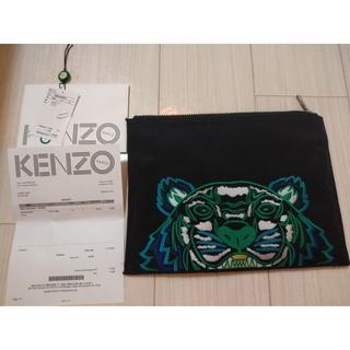 ケンゾー(KENZO)のKENZO クラッチバッグ  Black canvas tiger pouch (セカンドバッグ/クラッチバッグ)