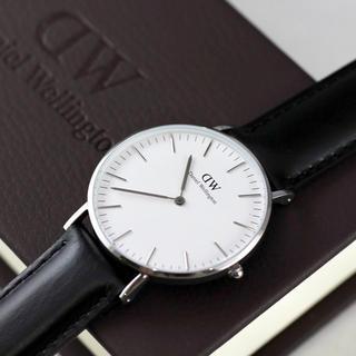 ダニエルウェリントン(Daniel Wellington)の新品 ダニエルウェリントン 40mm シルバー 腕時計 メンズ レディース(腕時計(アナログ))