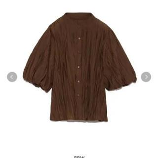 Lily Brown - LilyBrown 袖ボリューム半袖シャツ