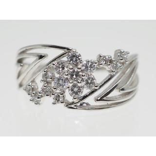 【0.29Cts】K18WG ダイヤモンドリング【サイズ直し無料】(リング(指輪))