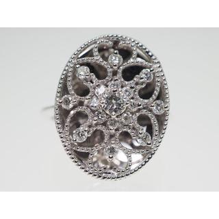 【0.45Cts】K18WG ダイヤモンドリング【サイズ直し無料】(リング(指輪))
