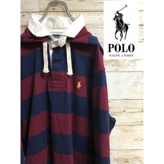 POLO RALPH LAUREN - 美品 RALPH LAUREN ラルフローレン フード付ラガーシャツ  XL