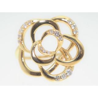 【0.250Cts】K18YGダイヤモンドリング【サイズ直し無料】(リング(指輪))
