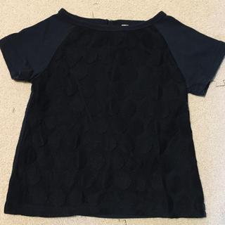 サマンサモスモス(SM2)の紺×黒 Tシャツ サマンサモスモス 100(Tシャツ/カットソー)
