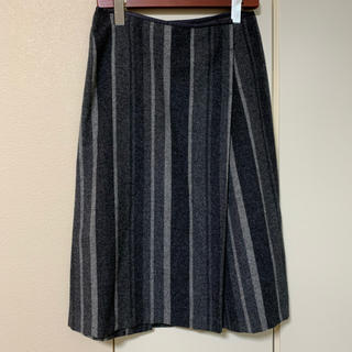 TOMORROWLAND - Galerie Vie ギャルリーヴィー カシミヤ混スカート グレー サイズ0