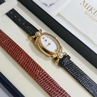 ミキモト(MIKIMOTO)の■出品月末まで■ MIKIMOTO 天然パール 華奢ウォッチ (腕時計)