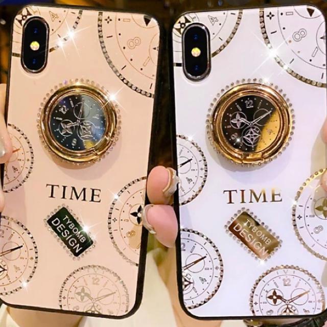 iphoneケース  X XS 指リング 韓国の通販