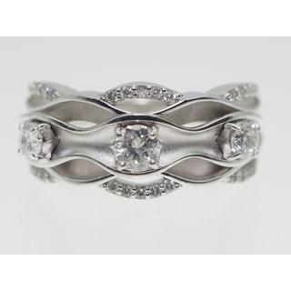 【0.580Cts】PT900ダイヤモンドリング【サイズ直し無料】(リング(指輪))