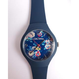 Cath Kidston - 【カバーフィルム付その下はピカピカ】キャスキッドソン大人ネイビーフラワーの腕時計