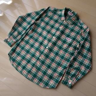 ミキハウス(mikihouse)のミキハウス 長袖 ボタン チェック シャツ ネルシャツ 男児 男の子 130(ブラウス)