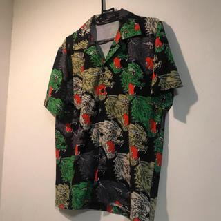 オープンカラーシャツ  アニマル柄 総柄 韓国 dude9