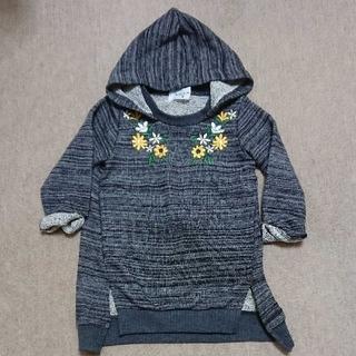 ウィルメリー(WILL MERY)のWill Mery  花刺繍 フード付きワンピース 80センチ(ワンピース)