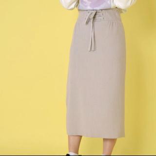 カスタネ(Kastane)のwcloset ハイウェストリブスカート(ひざ丈スカート)