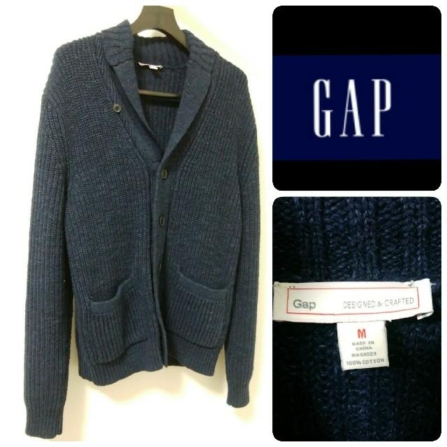 GAP(ギャップ)のGAP ネイビー アウター カーディガン M メンズのトップス(カーディガン)の商品写真