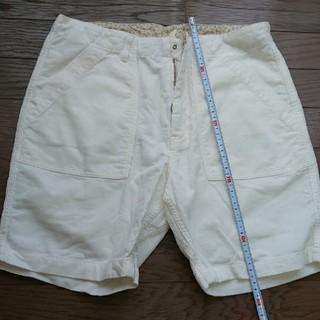 エドウィン(EDWIN)のEDWIN ホワイト コーデュロイ ショートパンツ メンズ ハーフパンツ(ショートパンツ)