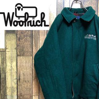 ウールリッチ(WOOLRICH)の【茹でさん様専用☆】ウールリッチ☆USA製刺繍ロゴ裏地チェックウールジャケット(ブルゾン)