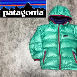 patagonia - 【激レア】パタゴニア☆キッズ用ロゴタグ入りフード付きダウンジャケット