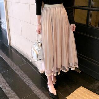 dholic - 裾ラインベロアチュールスカート