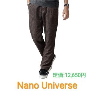 nano・universe - 新品 Nano Universe パンツ ウール ナノユニバース