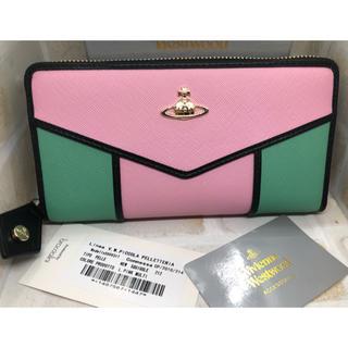 ヴィヴィアンウエストウッド(Vivienne Westwood)のVivienne Westwood ピンクマルチ 長財布 新品未使用(財布)