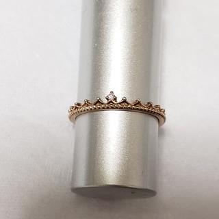 シルバーリング 指輪 ピンクゴールド クラウン ティアラシルバー925レディース(リング(指輪))