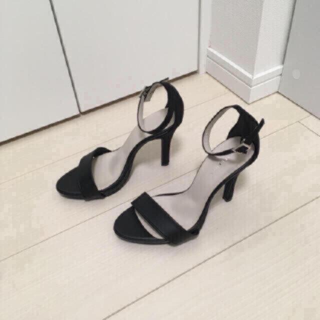 ESPERANZA(エスペランサ)の未使用 エスペランサ ヒール サンダル ブラック 7センチ レディースの靴/シューズ(サンダル)の商品写真