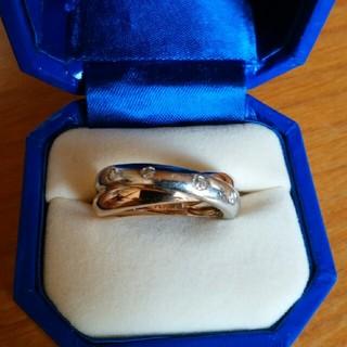 ヴァンドームアオヤマ(Vendome Aoyama)のヴァンドーム青山 ダイヤモンドxプラチナxゴールド リング 7号(リング(指輪))