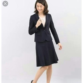 CLEAR IMPRESSION - 2018 【洗えるセットアップ】 ネイビー スーツ ジャケット スカート