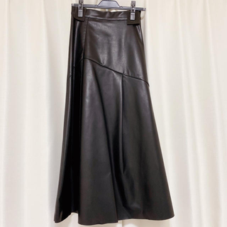 JEANASIS - 【未使用に近い】ジーナシス 大人気 レザー ロング スカート