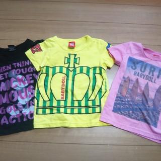 ベビードール(BABYDOLL)のBABY DOLL 3枚セット Tシャツ キッズ(Tシャツ/カットソー)