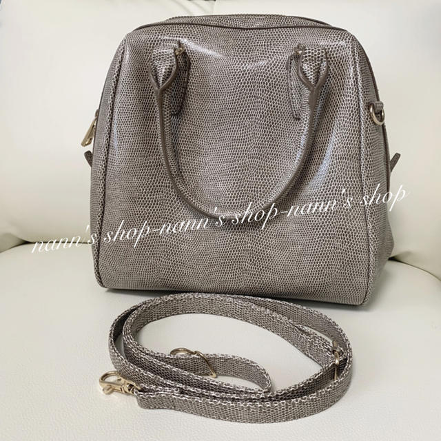 JEANASIS(ジーナシス)の美品 ボストン ハンド ショルダー ジーナシス  レディースのバッグ(ショルダーバッグ)の商品写真