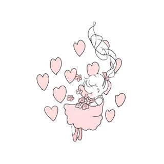 hakka baby - hakka baby リングフラワープリント9分袖ワンピース
