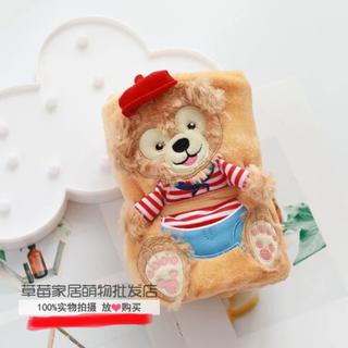 ダッフィー(ダッフィー)の日本未発売 ダッフィー  ブランケット  タオルケット 毛布 もこもこ 数量限定(おくるみ/ブランケット)