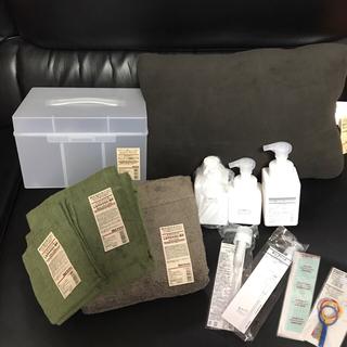 MUJI (無印良品) - 無印 11点セット タオル クッション 救急箱 ポンプボトル ポリプロピレン