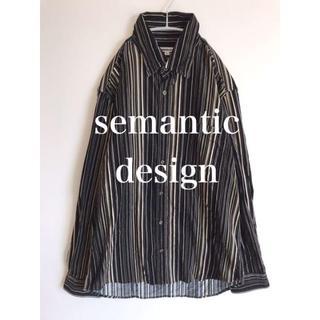 セマンティックデザイン(semantic design)のsemantic design  セマンティックデザインシャツビッグシルエットL(シャツ)