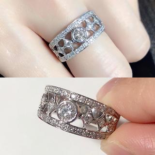 ❤️送料込み☆豪華Fカラー高品質計0.646ctダイヤモンドプラチナリング