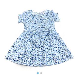 ベビーギャップ(babyGAP)の【定価半額以下】babygap☆新品☆90☆ブルー花柄ワンピース(ワンピース)