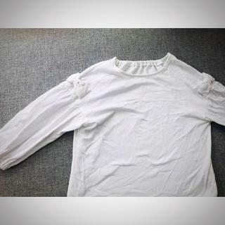 GU - guキッズ 130 トップス カットソー 長袖 ティーシャツ リボン