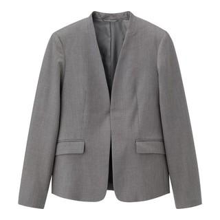 GU - GU 今期 ノーカラージャケット グレー 新品 スーツ 06GRAY ジーユー
