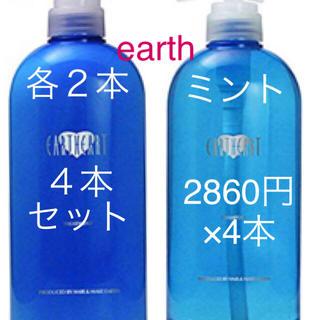 EARTH アロマシャンプートリートメント ミント 4点セット 美容室専売品