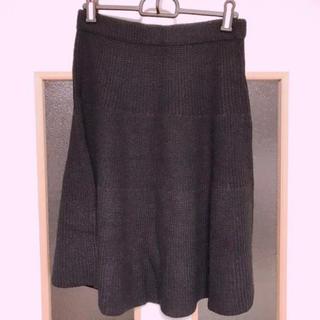 ジーユー(GU)のニットフレアスカート(ひざ丈スカート)