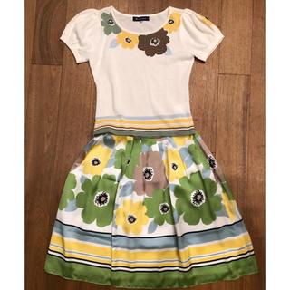 エムズグレイシー(M'S GRACY)のエムズグレーシー 花柄Tシャツ&スカート 38サイズ  セットアップ 美品(セット/コーデ)