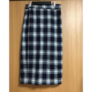 GU - チェックロングスカート