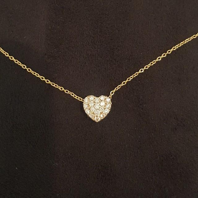PonteVecchio(ポンテヴェキオ)の美品★ポンテヴェキオ ダイヤモンド ハート ネックレス レディースのアクセサリー(ネックレス)の商品写真