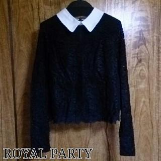 ロイヤルパーティー(ROYAL PARTY)のROYAL PARTY*未使用襟付ブラウス(シャツ/ブラウス(長袖/七分))
