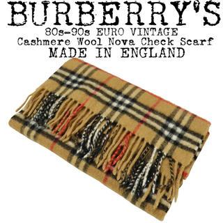 BURBERRY - ★BURBERRY★バーバリー★ノバチェック マフラー★カシミヤ★イングランド製