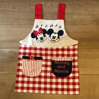 Disney - キッズエプロン 110cm 園児 お手伝い ディズニー ミッキー&ミニー