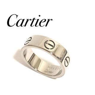 カルティエ(Cartier)のカルティエ ラブリング K18WG ホワイトゴールド 51号 証明書付(リング(指輪))