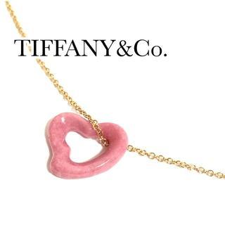 Tiffany & Co. - ティファニー k18PG インカローズ ピンク ネックレス ハート
